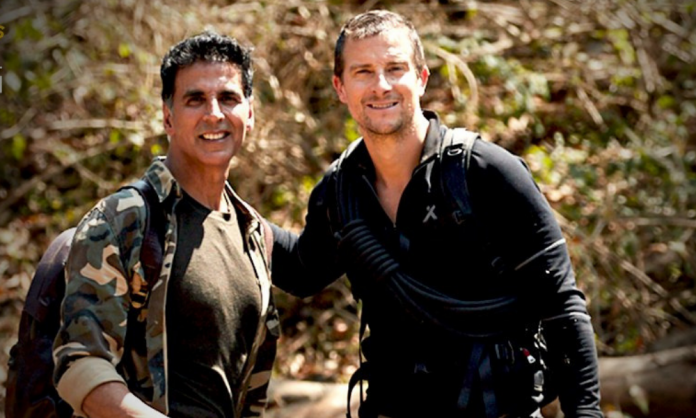 Akshay Kumar meets Bear Grylls in the new episode of 'Into the Wild' | The  Business Standard