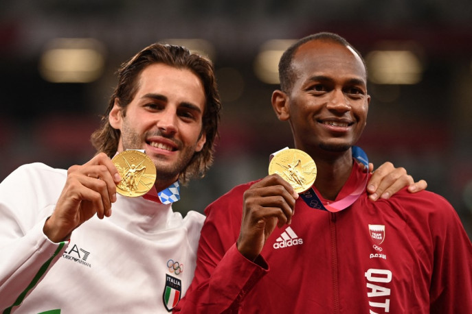 It is the true spirit' - Olympics athletics gold shared for the first time in 113 years